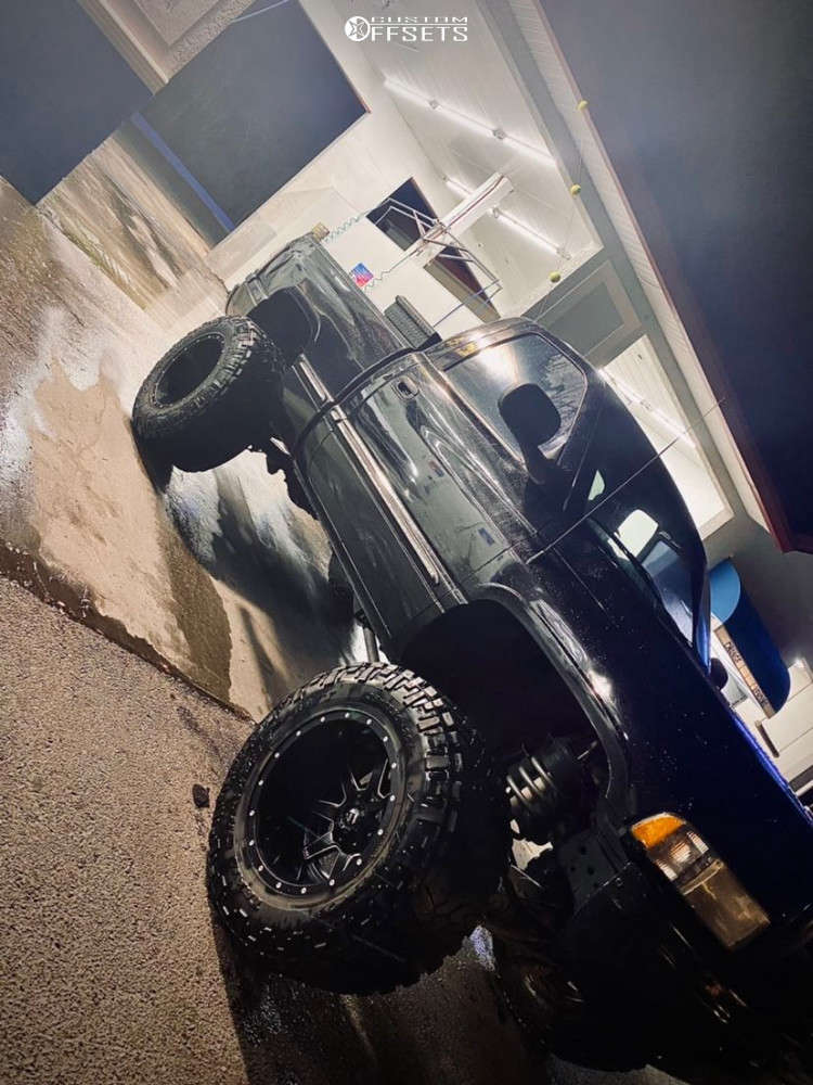 """1999 Dodge Ram 1500 Super Aggressive 3""""-5"""" on 20x14 -78 offset Fuel Maverick D536 and 38""""x15.5"""" Nitto Mud Grappler on Suspension Lift 8"""" - Custom Offsets Gallery"""
