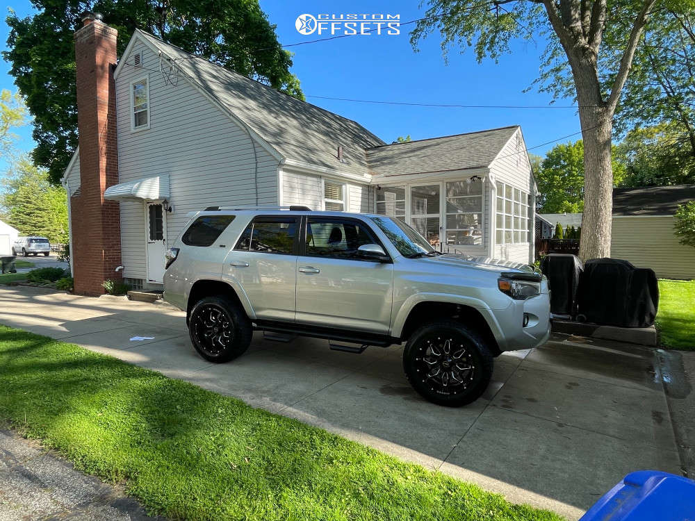 """2019 Toyota 4Runner Aggressive > 1"""" outside fender on 20x10 -24 offset Wicked Offroad W909 and 275/60 Nitto Terra Grappler G2 on Suspension Lift 4"""" - Custom Offsets Gallery"""