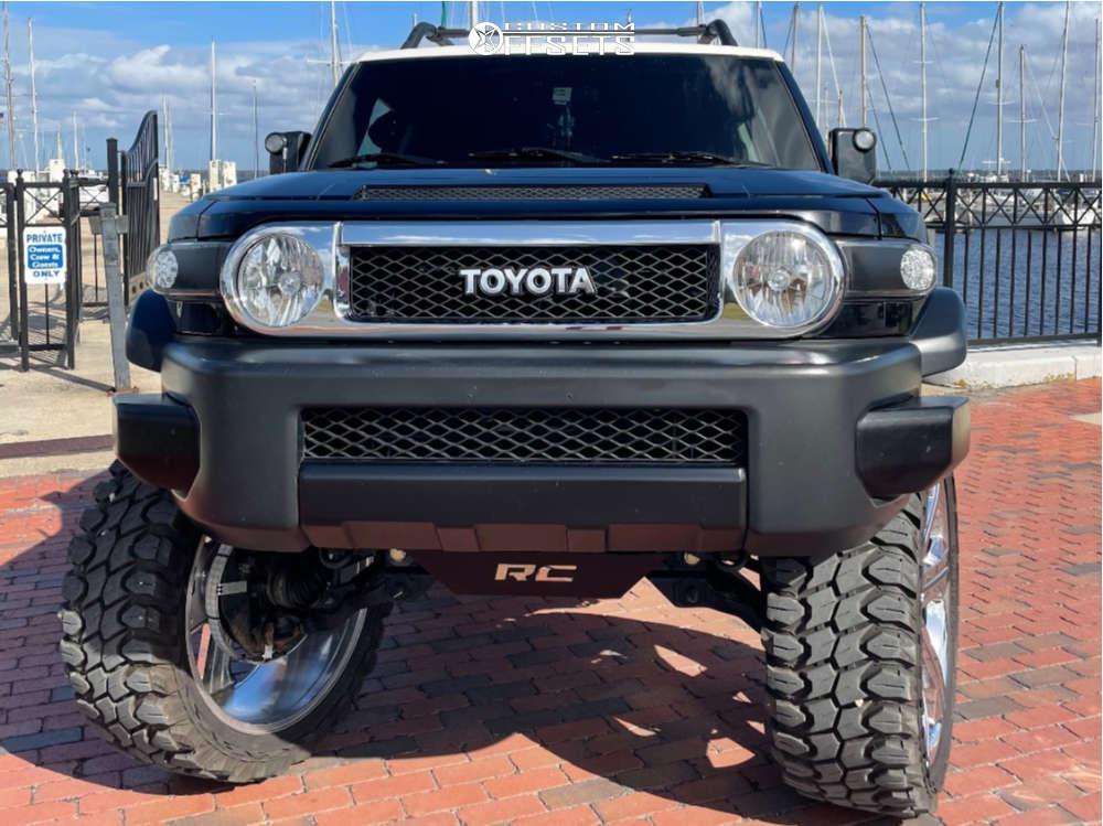 "2007 Toyota FJ Cruiser Slightly Aggressive on 26x10 31 offset OE Revolution G13 and 37""x13.5"" Gladiator Xcomp Mt on Suspension Lift 8"" - Custom Offsets Gallery"