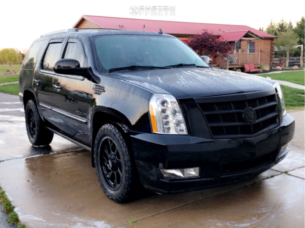 2013 Cadillac Escalade Slightly Aggressive on 20x9 18 offset Ultra Patriot and 275/55 Cooper A/t3 on Stock Suspension - Custom Offsets Gallery
