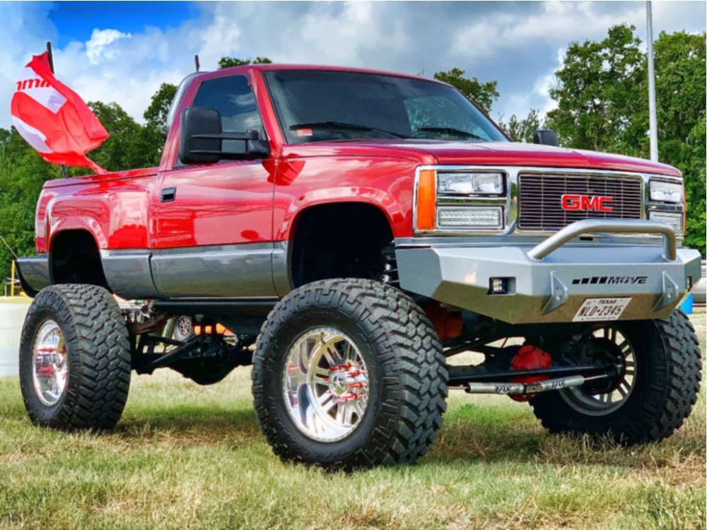 """1990 GMC K1500 Super Aggressive 3""""-5"""" on 20x12 -44 offset American Force Rebel Ss and 40""""x15.5"""" Nitto Mud Grappler on Suspension Lift 10"""" - Custom Offsets Gallery"""