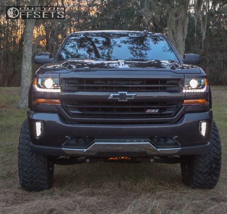 "2016 Chevrolet Silverado 1500 Super Aggressive 3""-5"" on 20x12 -44 offset Hostile Sprocket & 35""x12.5"" Nitto Trail Grappler on Suspension Lift 6.5"" - Custom Offsets Gallery"