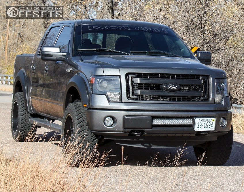 """2013 Ford F-150 Super Aggressive 3""""-5"""" on 20x10 -24 offset Fuel Lethal & 33""""x12.5"""" Atturo Trail Blade MT on Leveling Kit - Custom Offsets Gallery"""