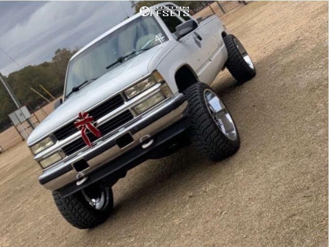 """1994 Chevrolet K1500 Super Aggressive 3""""-5"""" on 24x12 -44 offset Hardcore Offroad Hc15 & 35""""x12.5"""" Road One Aethon M/t on Suspension Lift 6"""" - Custom Offsets Gallery"""