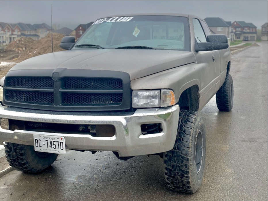 "1999 Dodge Ram 2500 Super Aggressive 3""-5"" on 17x10 10 offset Arc Wheels Ar02 and 33""x10.5"" BFGoodrich All Terrain Ta Ko2 on Suspension Lift 2.5"" - Custom Offsets Gallery"