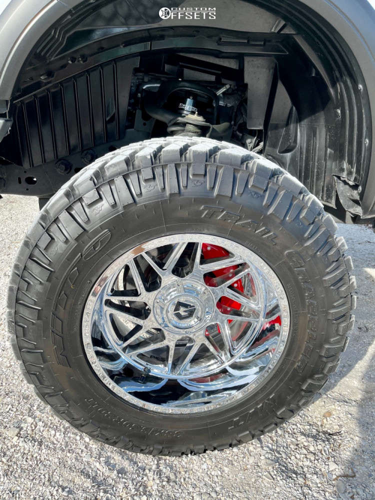 """2018 Nissan Titan Aggressive > 1"""" outside fender on 20x12 -44 offset Gear Off-Road Ratio and 38""""x13.5"""" Nitto Trail Grappler on Suspension Lift 7.5"""" - Custom Offsets Gallery"""