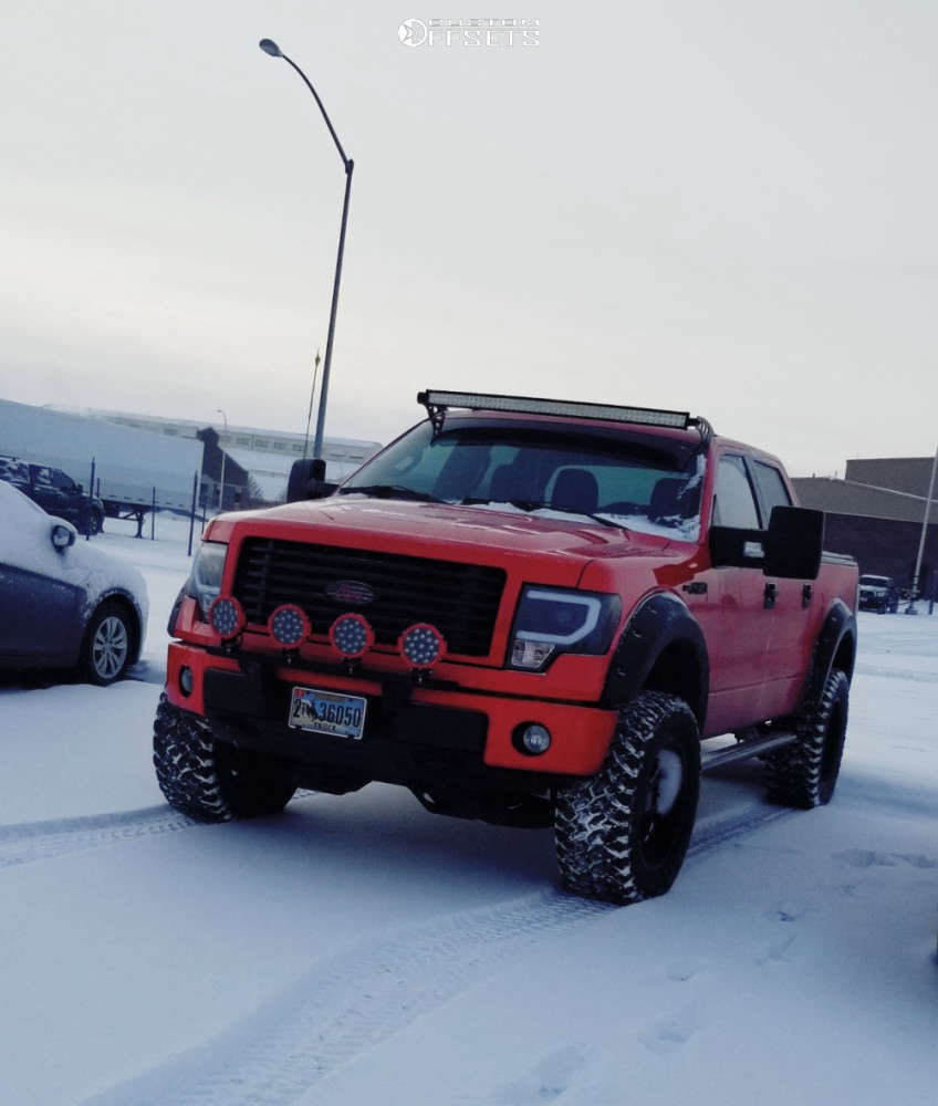 """2014 Ford F-150 Aggressive > 1"""" outside fender on 20x10 -24 offset Xd Xd825 & 35""""x12.5"""" Nitto Trail Grappler on Suspension Lift 4"""" - Custom Offsets Gallery"""