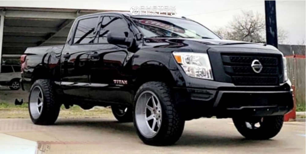 """2020 Nissan Titan Super Aggressive 3""""-5"""" on 22x12 44 offset XD Pike and 33""""x12.5"""" Toyo Tires Open Country A/t Ill on Suspension Lift 3"""" - Custom Offsets Gallery"""