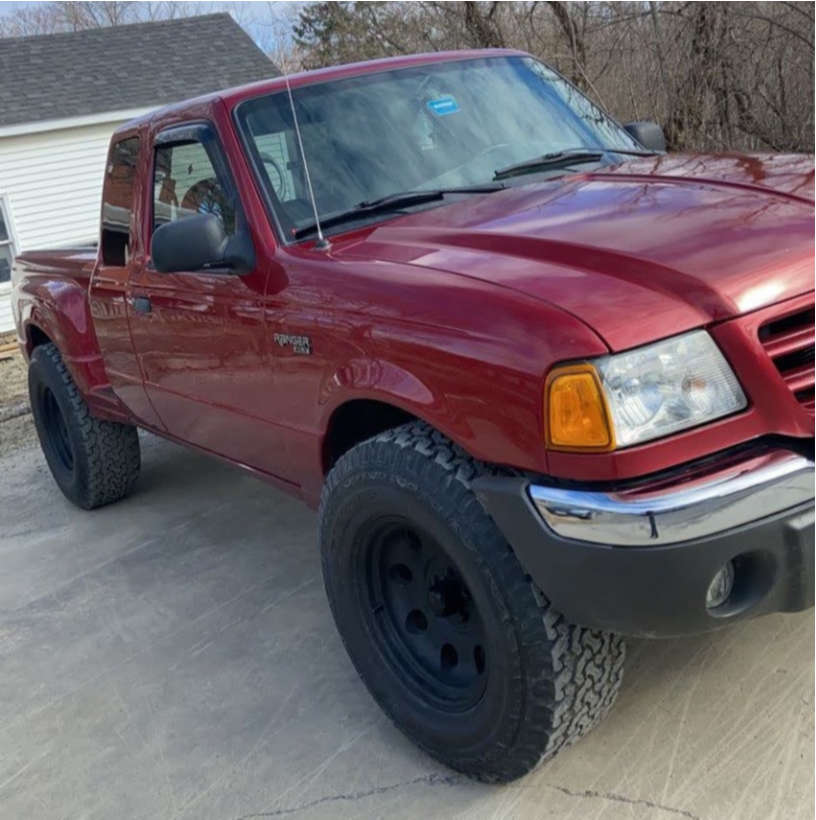 """2002 Ford Ranger Aggressive > 1"""" outside fender on 17x9 -12 offset Ultra 164 and 33""""x10.5"""" BFGoodrich All Terrain T/a Ko2 on Stock Suspension - Custom Offsets Gallery"""