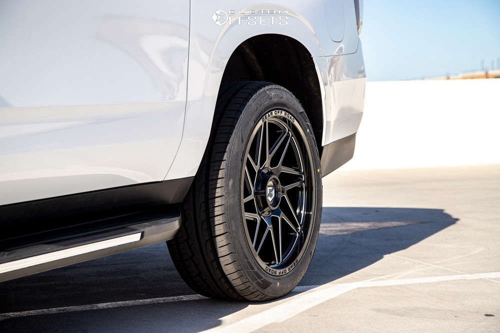 2020 Chevrolet Suburban Tucked on 22x10 10 offset Gear Off-Road Ratio and 285/45 Hercules I-move on Stock Suspension - Custom Offsets Gallery