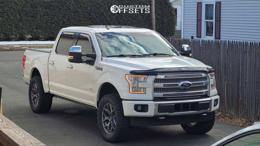 """2017 Ford F-150 Slightly Aggressive on 20x9 12 offset VenomRex Vr601 and 35""""x12.5"""" BFGoodrich All Terrain T/a Ko2 on Suspension Lift 3"""" - Custom Offsets Gallery"""