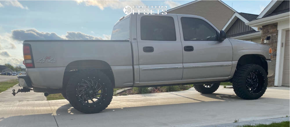 """2005 GMC Sierra 1500 Classic Super Aggressive 3""""-5"""" on 20x12 -44 offset Hardrock Crusher and 33""""x12.5"""" RBP Repulsor Mt on Leveling Kit - Custom Offsets Gallery"""