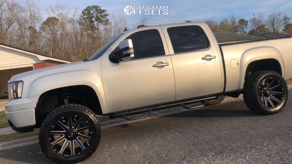 """2011 GMC Sierra 1500 Super Aggressive 3""""-5"""" on 22x12 43 offset Fuel Contra and 35""""x12.5"""" Kenda Klever R/t on Suspension Lift 7.5"""" - Custom Offsets Gallery"""