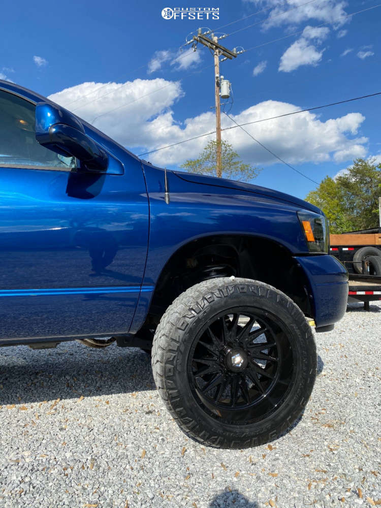 """2008 Dodge Ram 2500 Super Aggressive 3""""-5"""" on 22x12 -44 offset TIS 547b and 35""""x13.5"""" Nitto Ridge Grappler on Suspension Lift 3"""" - Custom Offsets Gallery"""