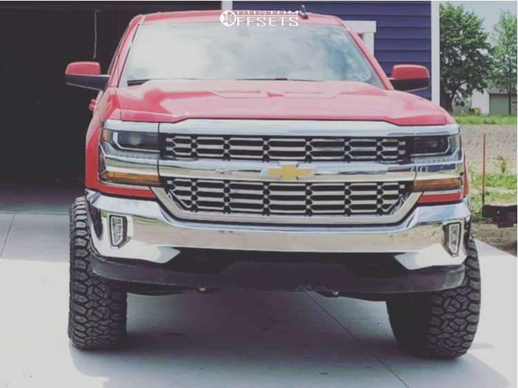 """2017 Chevrolet Silverado 1500 Aggressive > 1"""" outside fender on 20x10 -19 offset Hostile Vulcan and 35""""x12.5"""" Fury Offroad Country Hunter Rt on Suspension Lift 6"""" - Custom Offsets Gallery"""