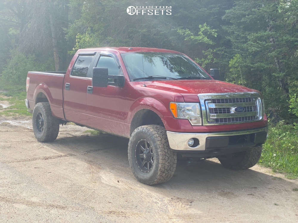 """2013 Ford F-150 Super Aggressive 3""""-5"""" on 18x9 1 offset Fuel Maverick and 325/65 Toyo Open Country A/t Iii on Suspension Lift 4"""" - Custom Offsets Gallery"""