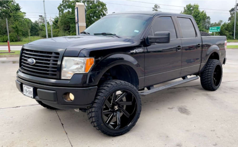 """2014 Ford F-150 Super Aggressive 3""""-5"""" on 24x12 -51 offset ARKON OFF-ROAD Lincoln & 35""""x12.5"""" Road One Aethon Mt on Suspension Lift 6.5"""" - Custom Offsets Gallery"""
