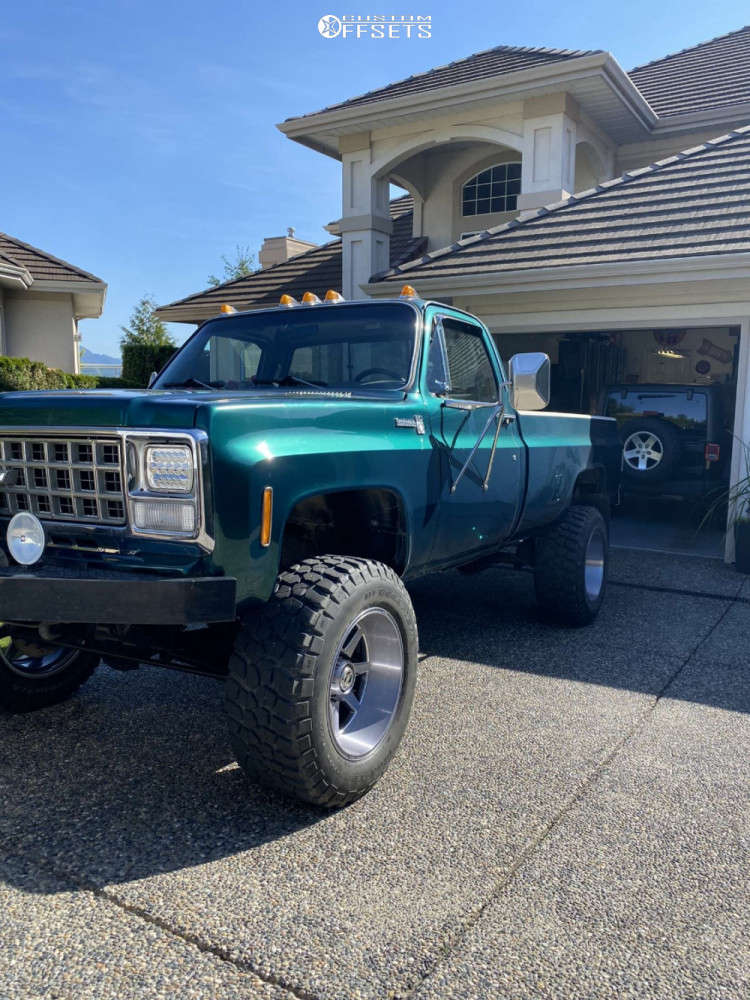 """1980 Chevrolet K30 Super Aggressive 3""""-5"""" on 20x12 -44 offset XD Pike and 36""""x13.5"""" BFGoodrich Mud Terrain Ta Km2 on Suspension Lift 6"""" - Custom Offsets Gallery"""