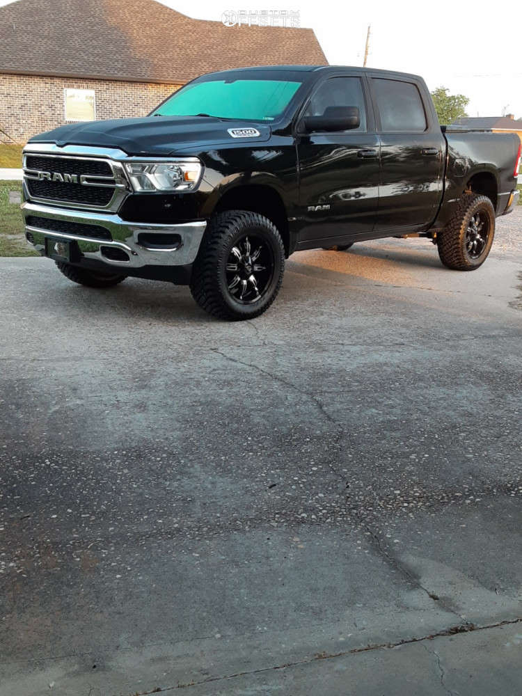 """2019 Ram 1500 Aggressive > 1"""" outside fender on 20x9 -12 offset Vision Manic and 305/55 Atturo Trail Blade Xt on Suspension Lift 3.5"""" - Custom Offsets Gallery"""