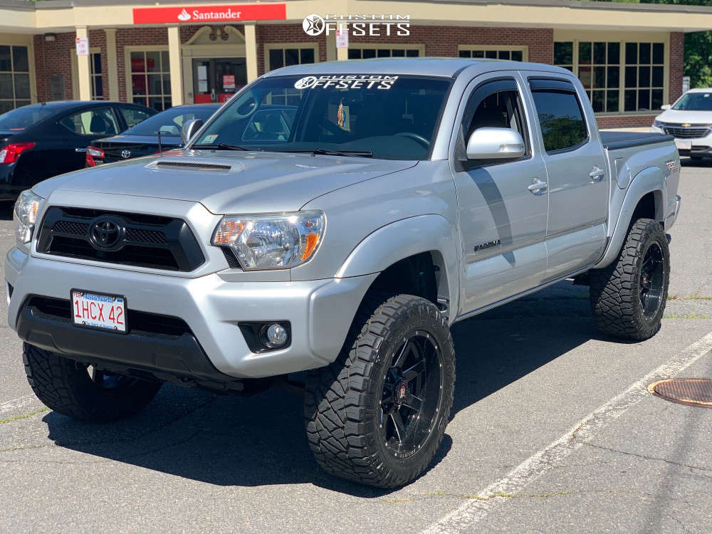 """2013 Toyota Tacoma Aggressive > 1"""" outside fender on 20x10 -19 offset Ballistic Rage and 33""""x12.5"""" Nitto Ridge Grappler on Suspension Lift 3"""" - Custom Offsets Gallery"""