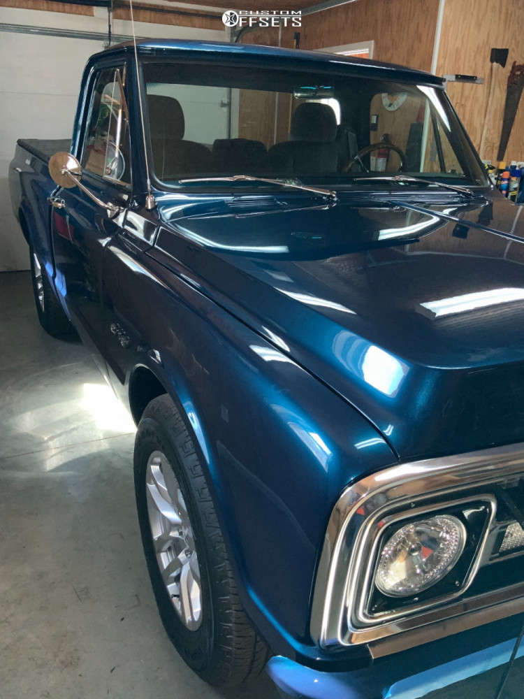 """1969 Chevrolet C10 Pickup Aggressive > 1"""" outside fender on 20x9 0 offset US Mags Bandit & 27""""x9.5"""" Michelin Pilot Sport on Stock Suspension - Custom Offsets Gallery"""