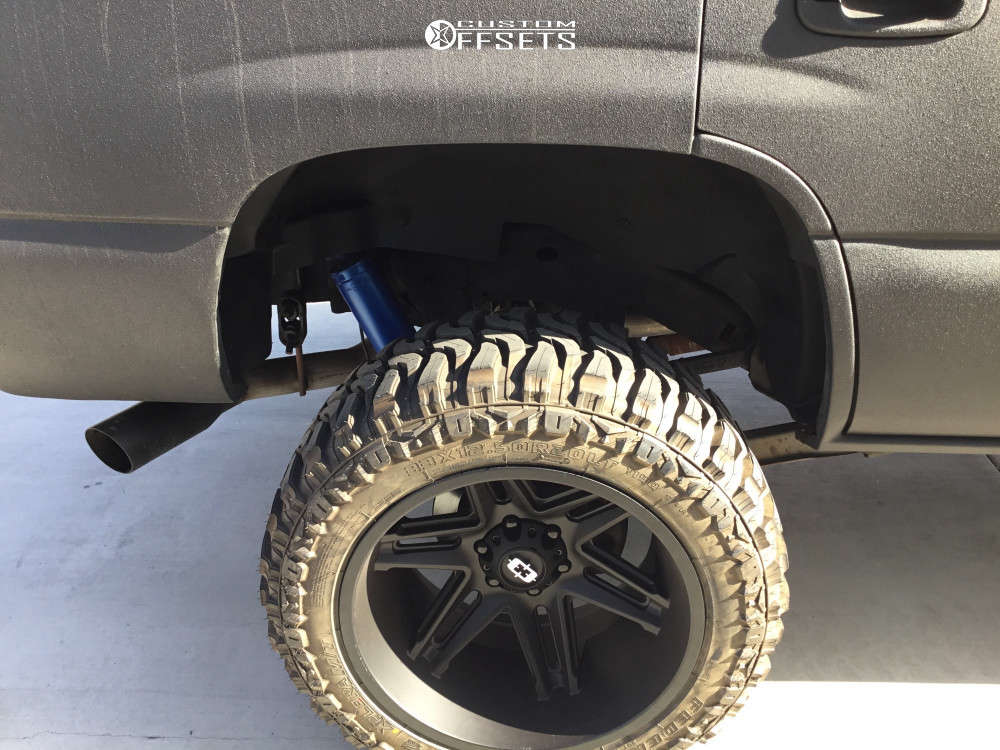 """2004 Chevrolet Tahoe Super Aggressive 3""""-5"""" on 20x12 -51 offset Vision Razor and 33""""x12.5"""" Federal Xplora Mt on Suspension Lift 6"""" - Custom Offsets Gallery"""