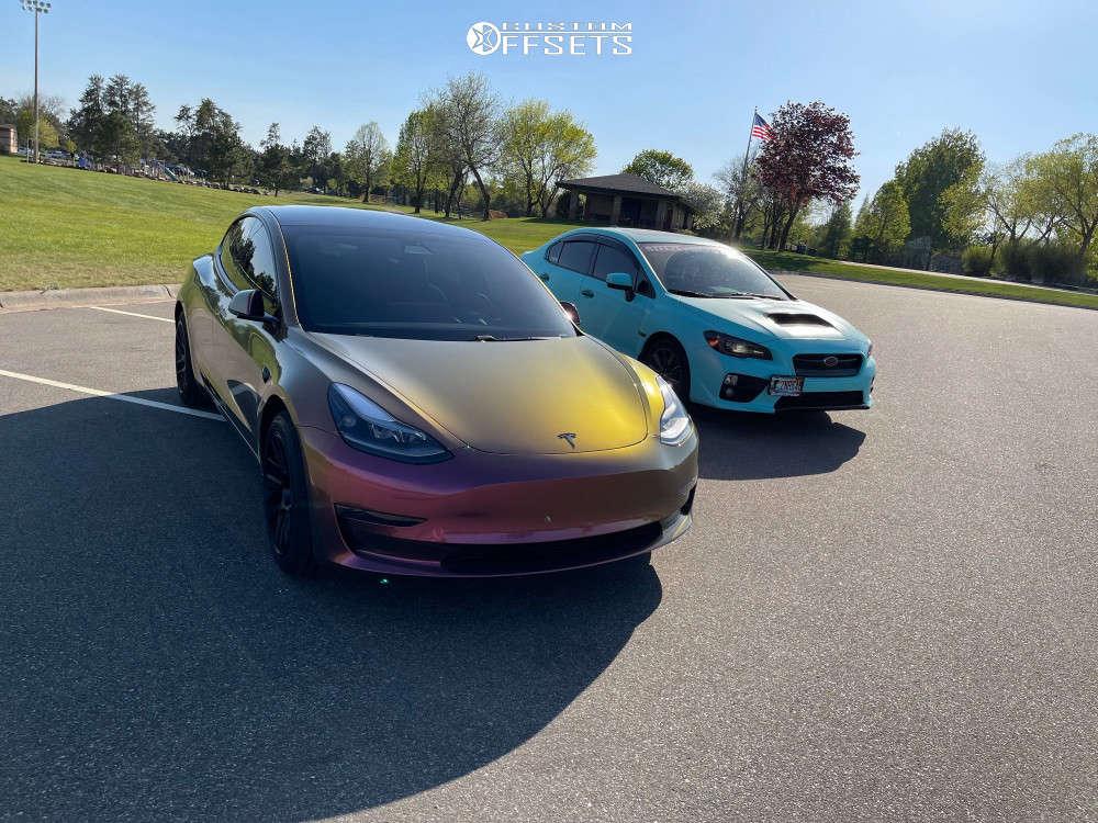 2020 Tesla 3  on 18x9.5 35 offset Artisa Artformed Elder and 245/45 Road Hugger Gt Ultra on Stock Suspension - Custom Offsets Gallery