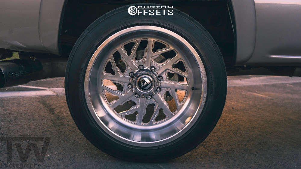 """2007 Chevrolet Silverado 2500 HD Classic Super Aggressive 3""""-5"""" on 22x12 -51 offset Fuel Forged Ff51 and 305/45 Nitto Nt420s on Stock Suspension - Custom Offsets Gallery"""