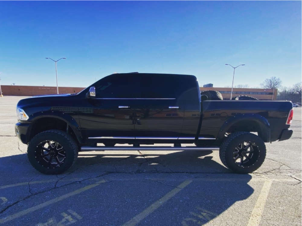 """2016 Ram 2500 Aggressive > 1"""" outside fender on 22x12 -44 offset Gear Off-Road 726mb and 37""""x13.5"""" Nitto Ridge Grappler on Suspension Lift 6"""" - Custom Offsets Gallery"""