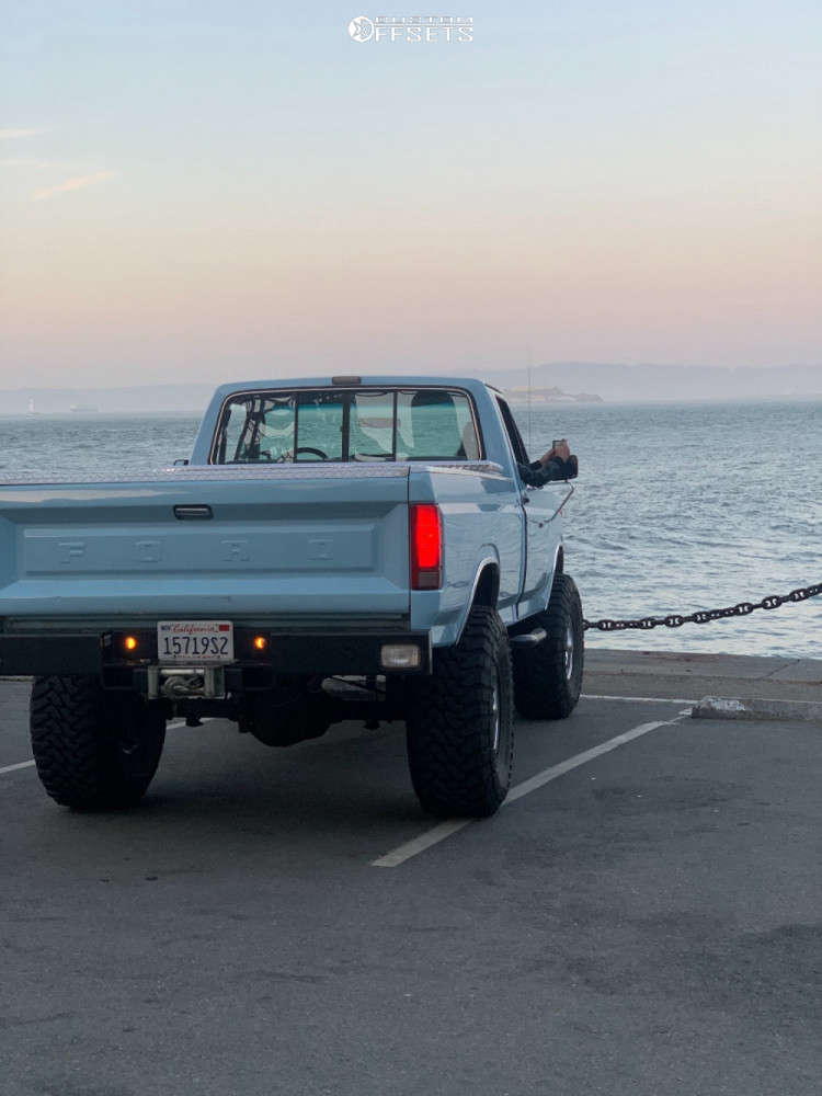 """1986 Ford F-250 Super Aggressive 3""""-5"""" on 16x10 -25 offset Mickey Thompson Classic Iii and 38""""x14.5"""" Toyo Tires Open Country Mt on Suspension Lift 6"""" - Custom Offsets Gallery"""