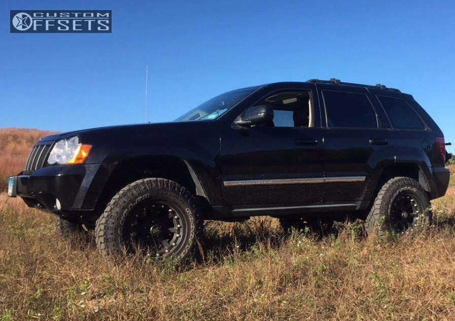 """2008 Jeep Grand Cherokee Super Aggressive 3""""-5"""" on 17x9 -12 offset XD Addict & 285/70 Goodyear Wrangler Duratrac on Suspension Lift 3.5"""" - Custom Offsets Gallery"""