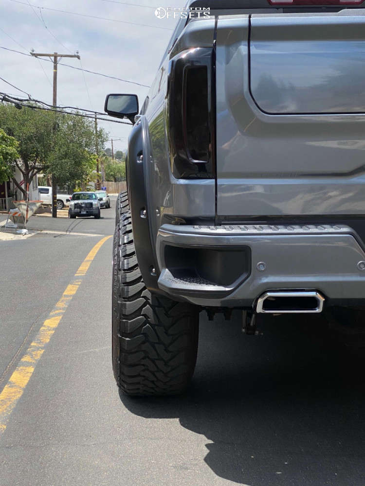 """2020 GMC Sierra 1500 Super Aggressive 3""""-5"""" on 22x14 -44 offset Black Rhino Raze and 35""""x12.5"""" Toyo Open Country Mt on Suspension Lift 6"""" - Custom Offsets Gallery"""