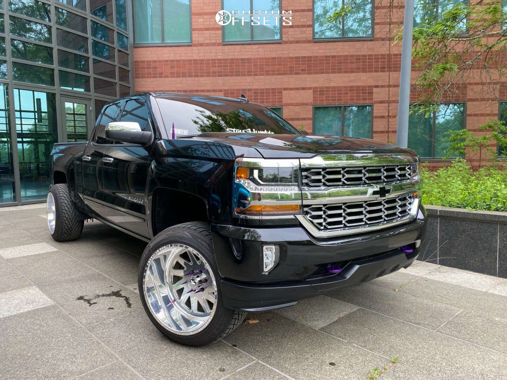 """2016 Chevrolet 1500 Super Aggressive 3""""-5"""" on 22x14 -76 offset American Force Aka Ss and 305/45 Toyo Tires Proxes St on Leveling Kit - Custom Offsets Gallery"""