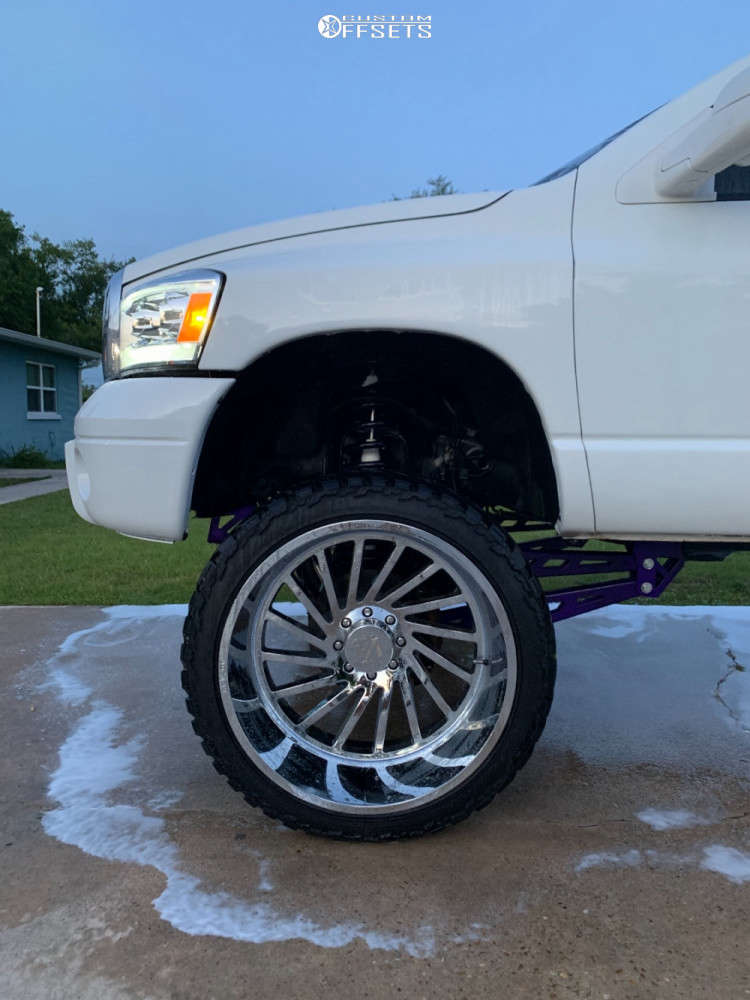 """2008 Dodge Ram 2500 Super Aggressive 3""""-5"""" on 26x14 -81 offset ARKON OFF-ROAD Caesar and 37""""x13.5"""" AMP Mud Terrain Attack M/t A on Suspension Lift 8"""" - Custom Offsets Gallery"""