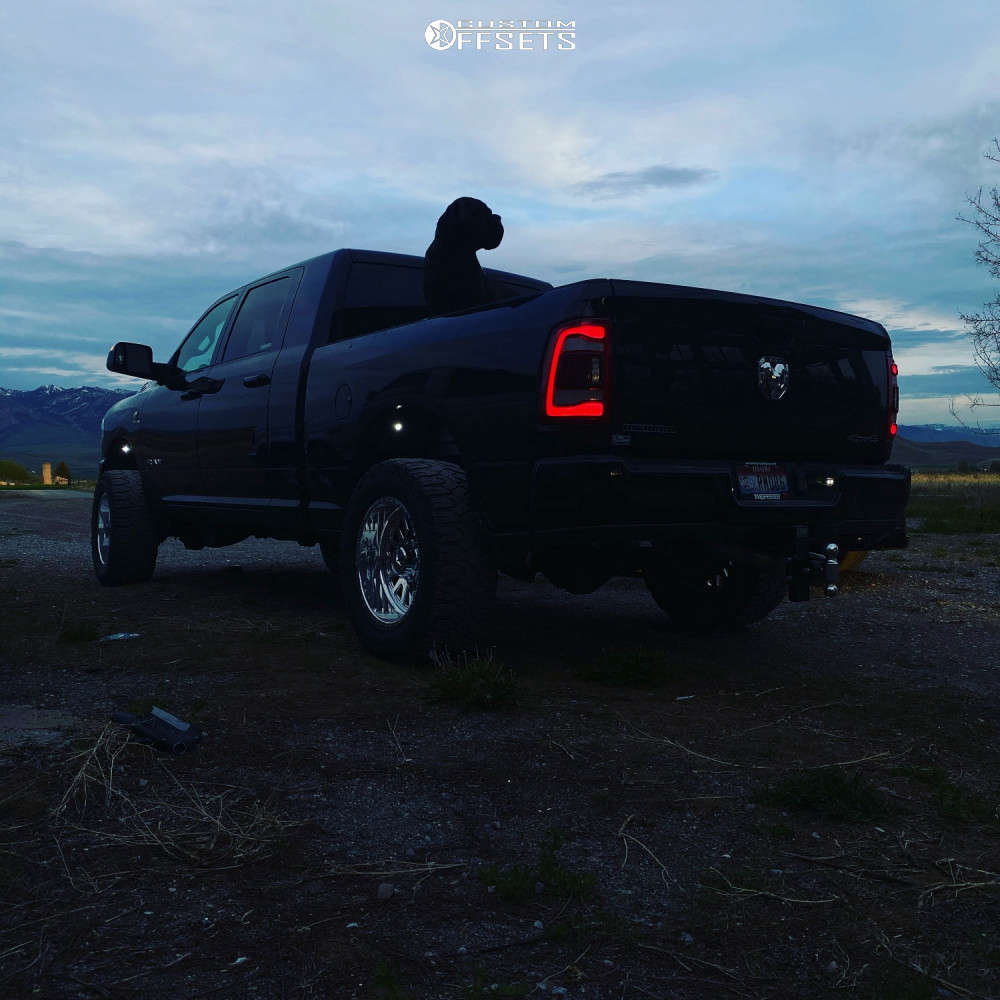 """2020 Ram 3500 Super Aggressive 3""""-5"""" on 20x10 -24 offset American Force Atom Ss and 35""""x12.5"""" Milestar Patagonia Mt on Leveling Kit - Custom Offsets Gallery"""