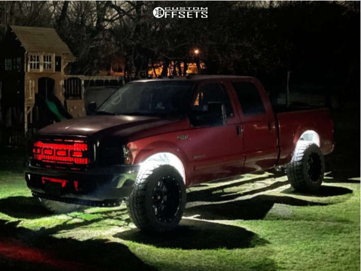 """2002 Ford F-250 Super Duty Super Aggressive 3""""-5"""" on 20x12 44 offset Moto Metal Mo960 and 35""""x12.5"""" BFGoodrich All Terrain T/a Ko2 on Leveling Kit - Custom Offsets Gallery"""