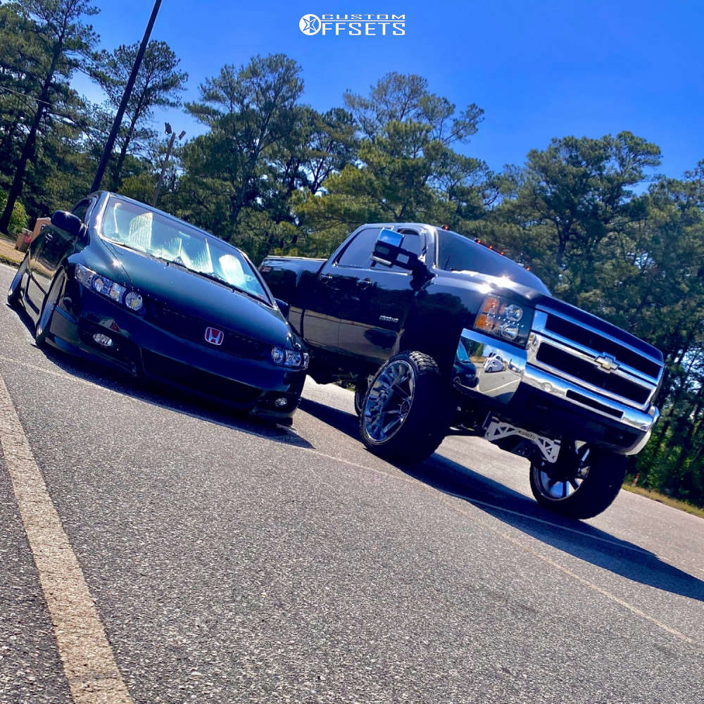 "2007 Chevrolet Silverado 2500 HD Super Aggressive 3""-5"" on 26x14 -81 offset ARKON OFF-ROAD Lincoln and 37""x14.5"" Venom Power Terra Hunter Rt on Suspension Lift 8"" - Custom Offsets Gallery"