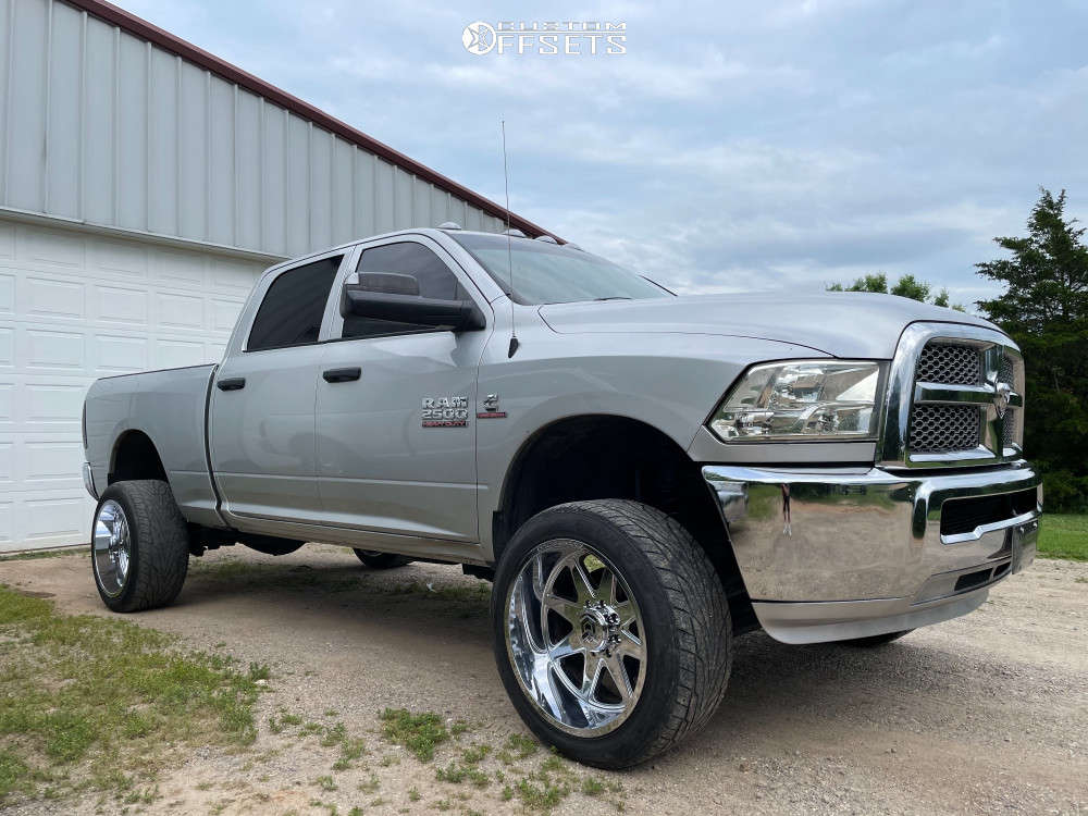 """2015 Ram 2500 Aggressive > 1"""" outside fender on 22x12 -44 offset Dropstars 655c and 33""""x11.5"""" Toyo Tires Proxes on Suspension Lift 3"""" - Custom Offsets Gallery"""