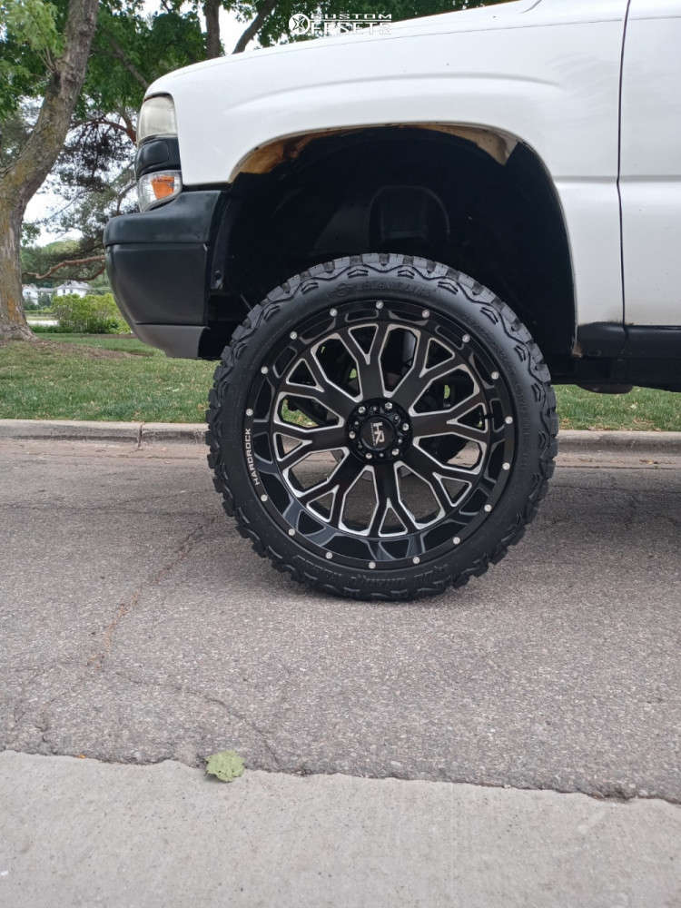 """2006 Chevrolet Tahoe Super Aggressive 3""""-5"""" on 24x12 -44 offset Hardrock Slammer Xposed and 35""""x12.5"""" Haida Mud Champ on Suspension Lift 6.5"""" - Custom Offsets Gallery"""