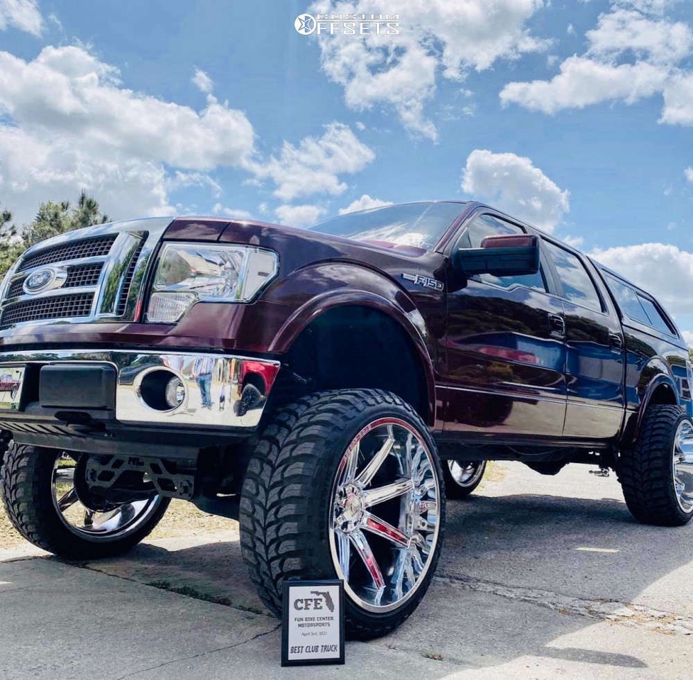 """2010 Ford F-150 Super Aggressive 3""""-5"""" on 26x14 76 offset Axe Offroad Artemis and 37""""x13.5"""" Road One Atheon Mt on Suspension Lift 9"""" - Custom Offsets Gallery"""