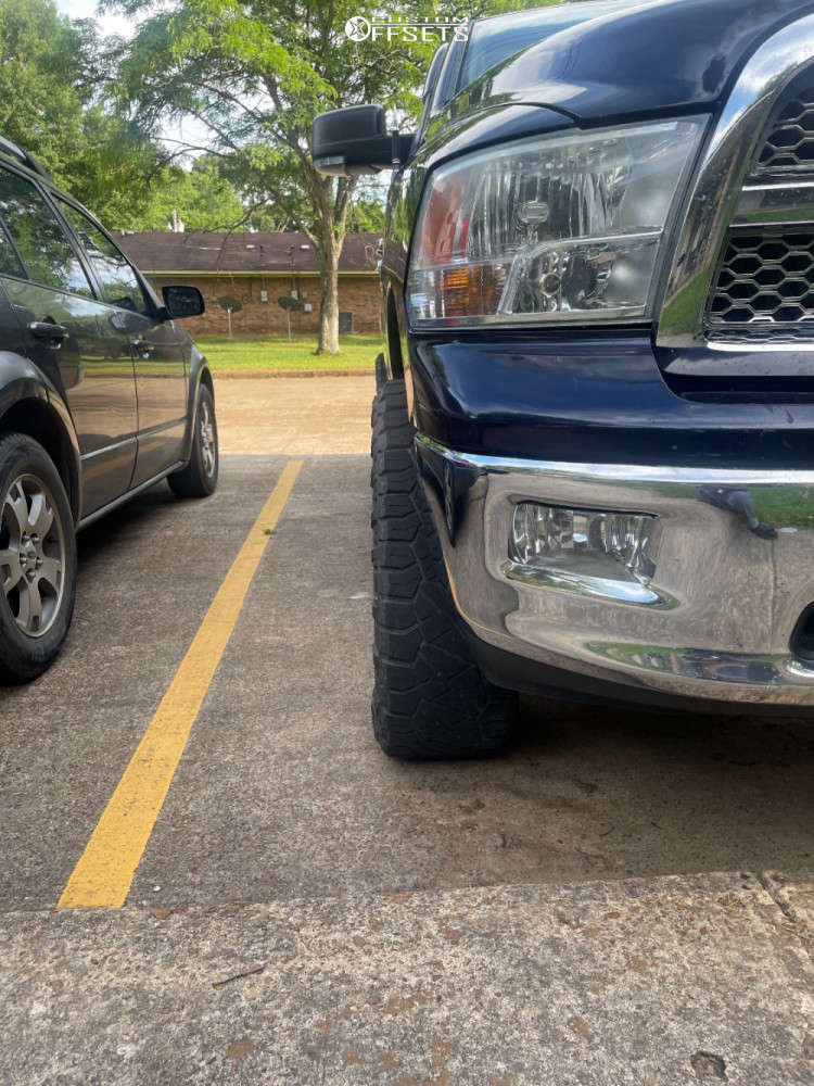 """2012 Ram 1500 Aggressive > 1"""" outside fender on 20x9 -12 offset Vision Se7en and 35""""x11.5"""" Nitto Ridge Grapplers on Suspension Lift 4"""" - Custom Offsets Gallery"""