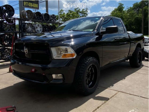 """2012 Ram 1500 Aggressive > 1"""" outside fender on 20x10 -24 offset Steel Off-Road Sd110 and 25""""x7.5"""" Kenda Klever M/t on Leveling Kit - Custom Offsets Gallery"""