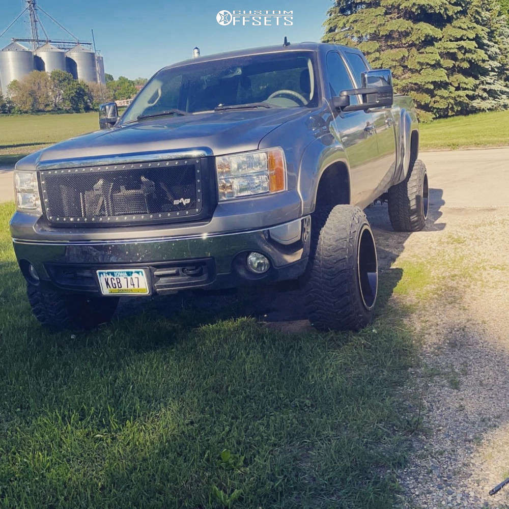 """2007 GMC Sierra 1500 Super Aggressive 3""""-5"""" on 20x14 -76 offset Full Throttle Ft-2 and 33""""x13.5"""" Atturo Trail Blade Mts on Suspension Lift 6"""" - Custom Offsets Gallery"""