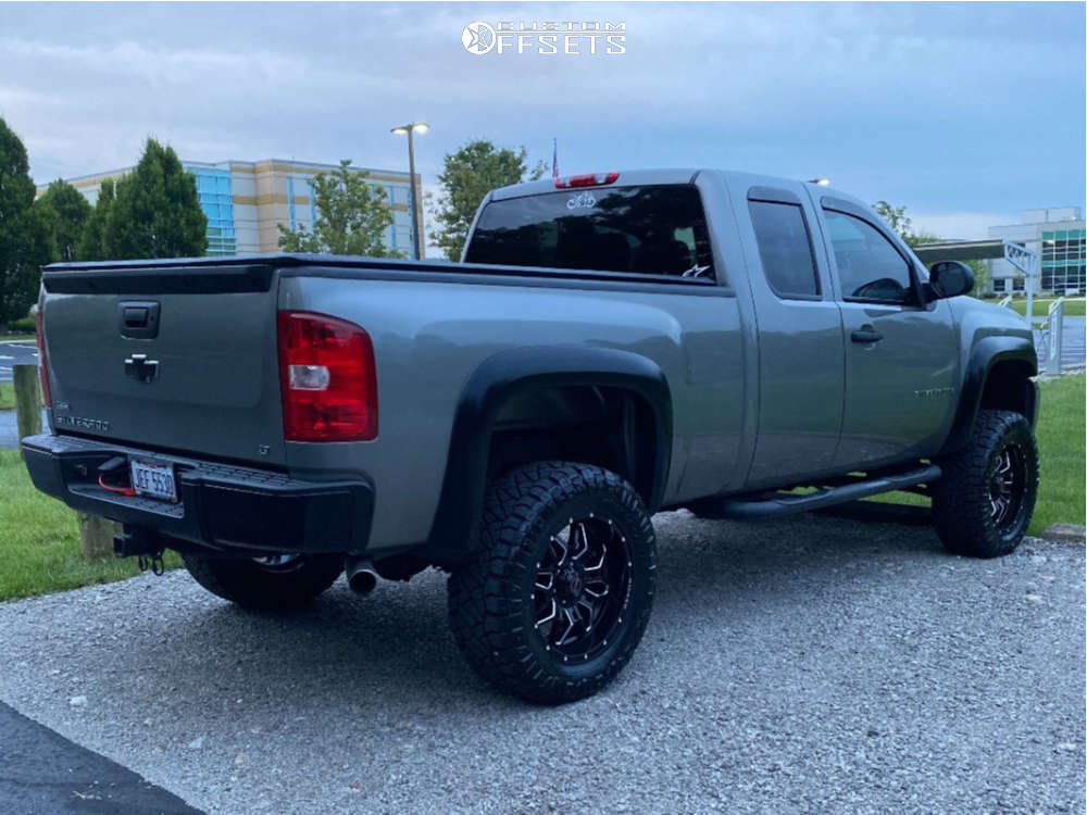 """2009 Chevrolet Silverado 1500 Super Aggressive 3""""-5"""" on 20x9 -12 offset Wicked Offroad W909 and 35""""x12.5"""" Nitto Ridge Grapplers on Suspension Lift 6"""" - Custom Offsets Gallery"""