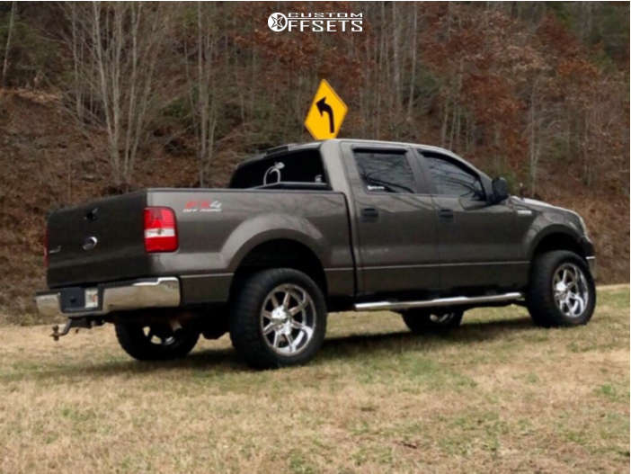 """2007 Ford F-150 Super Aggressive 3""""-5"""" on 20x12 -52 offset Fuel Maverick and 33""""x12.5"""" Crosswind Crosswind M/t on Leveling Kit - Custom Offsets Gallery"""