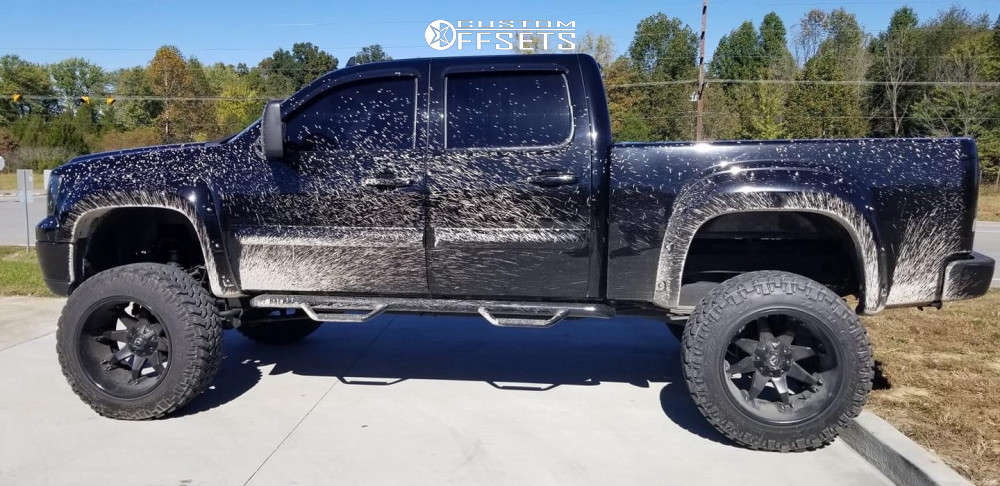 """2012 GMC Sierra 1500 Aggressive > 1"""" outside fender on 30x14 -35 offset Dropstars 647mb and 38""""x14"""" Fury Offroad Country Hunter At on Suspension Lift 12"""" - Custom Offsets Gallery"""