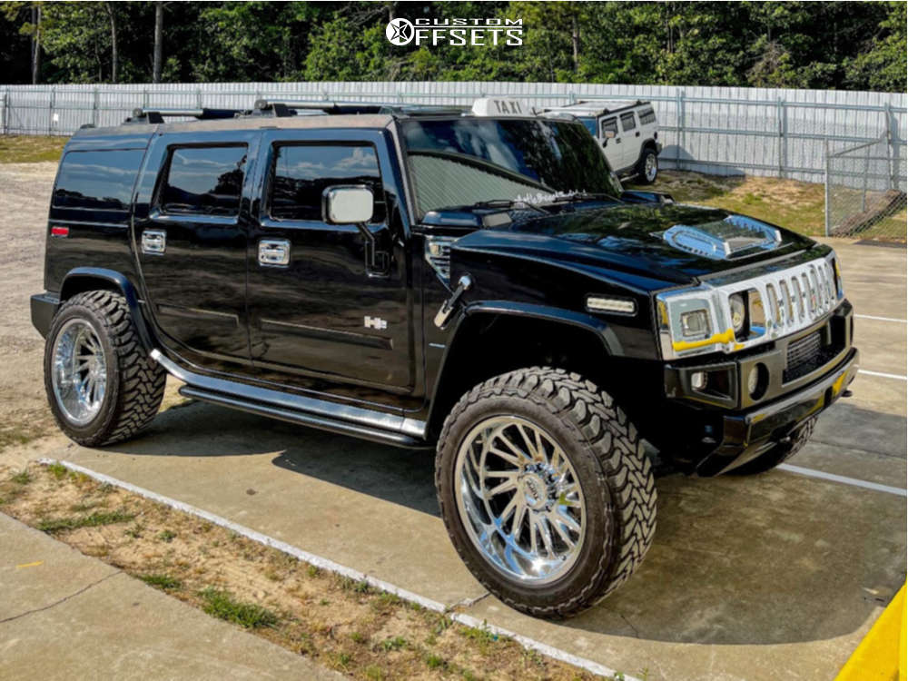 """2005 HUMMER H2 Super Aggressive 3""""-5"""" on 22x12 -44 offset Tuff T2a and 35""""x12.5"""" Toyo Tires Open Country M/t on Stock Suspension - Custom Offsets Gallery"""