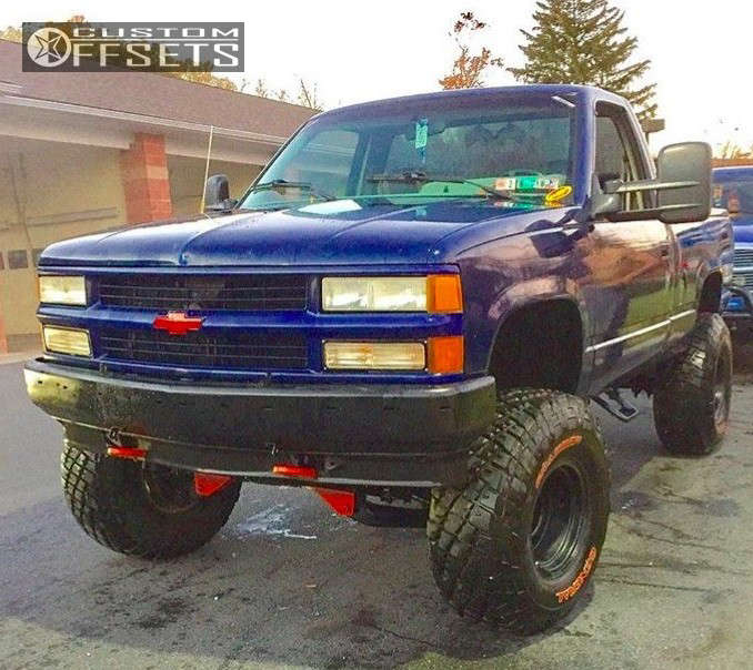 """1993 Chevrolet K1500 Super Aggressive 3""""-5"""" on 15x10 -44 offset Pro Comp Series 51 & 35""""x12.5"""" General Grabber At2 on Suspension Lift 3"""" - Custom Offsets Gallery"""