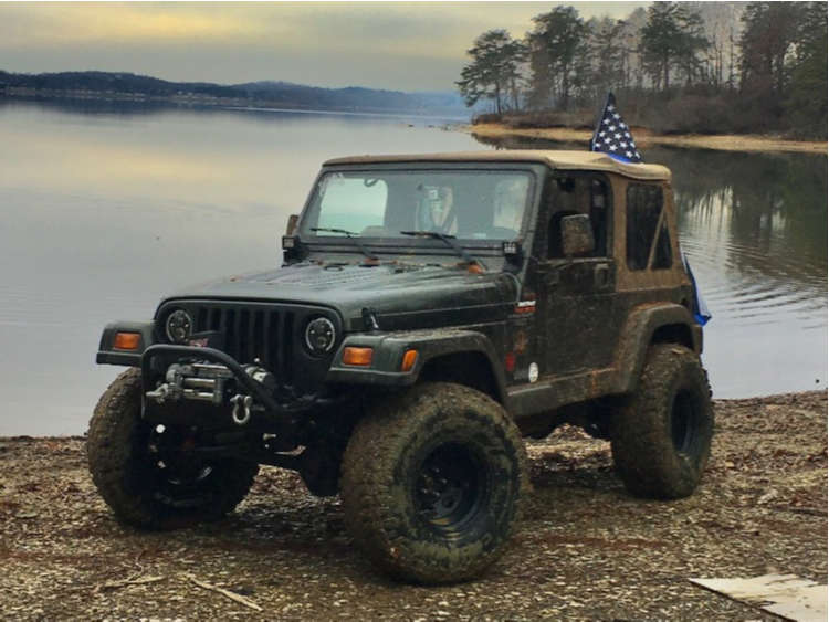 """1998 Jeep TJ Aggressive > 1"""" outside fender on 15x10 -47 offset Pro Comp Series 69 and 35""""x12.5"""" Cooper Evolution Mt on Suspension Lift 4"""" - Custom Offsets Gallery"""