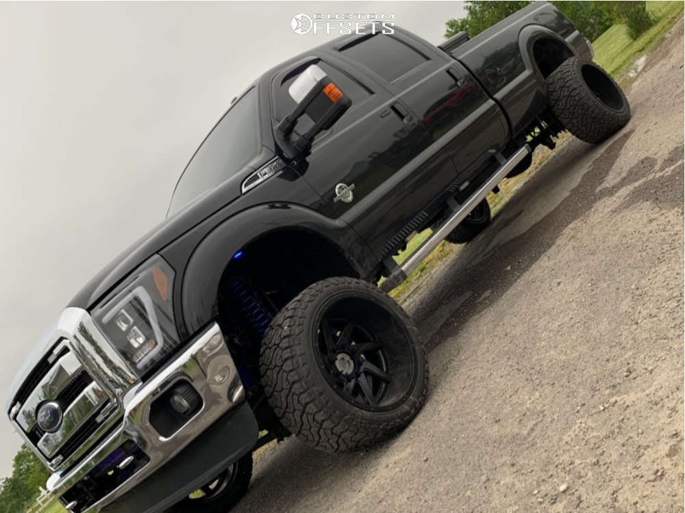 """2015 Ford F-350 Super Duty Aggressive > 1"""" outside fender on 22x14 -77 offset Fuel Forged Ff02 and 33""""x14.5"""" Venom Power Terrain Hunter X/t on Suspension Lift 6"""" - Custom Offsets Gallery"""